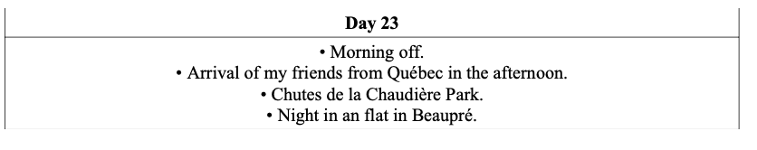 1 day in the region of Chaudière - Appalaches